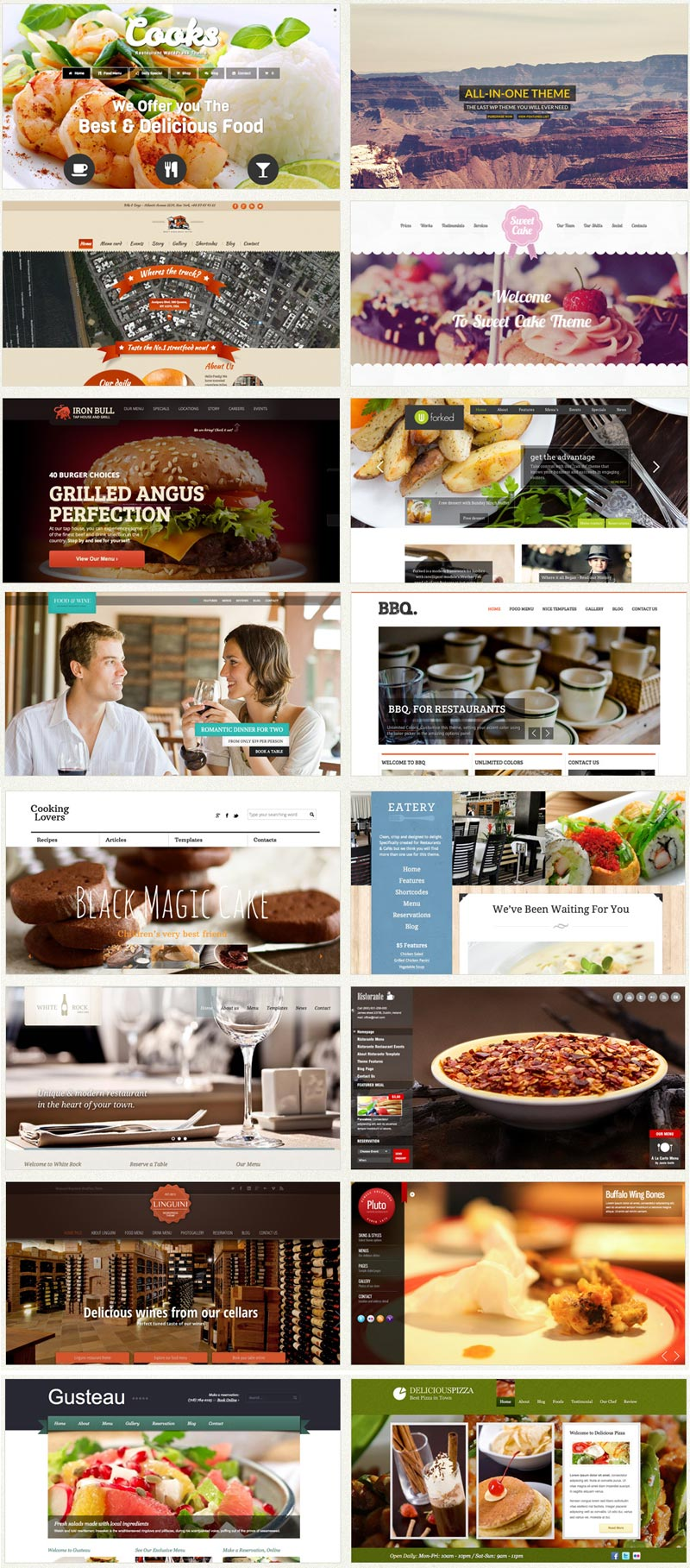 Restaurant web design social made and digital marketing